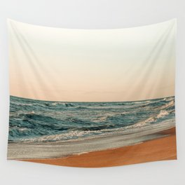 Ocean Orange Wall Tapestry