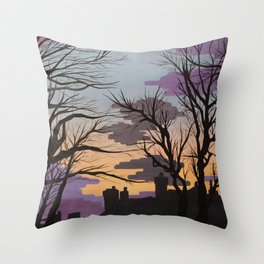 Sunsets over Lytham Throw Pillow