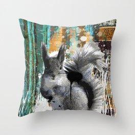 Cheeky Industrious Squirrel  Throw Pillow