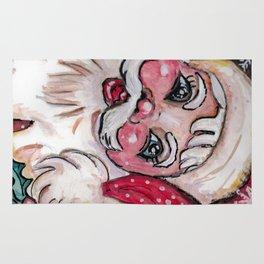Babyfaced Santa Rug