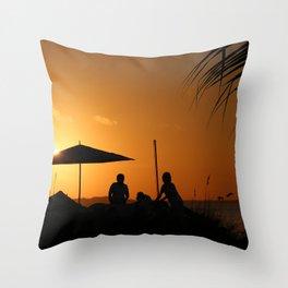 Turks & Caicos Sunset Throw Pillow