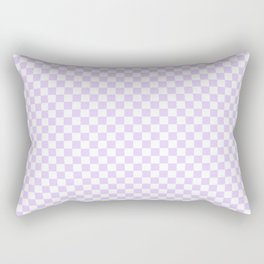 Chalky Pale Lilac Pastel Color and White Checkerboard Rectangular Pillow
