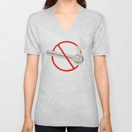 No Smoking...Crack Unisex V-Neck