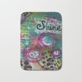 Shine On Teal Bath Mat