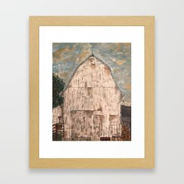 Great White Barn Framed Art Print