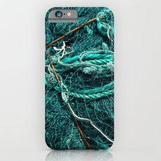 Teal Nautical Rope iPhone 6s Slim Case