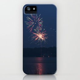 Fireworks Over Lake 17 iPhone Case