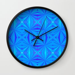 231 - Abstract blue pattern Wall Clock