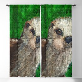 The Otter's Curiosity Blackout Curtain