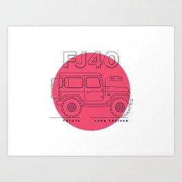 Toyota Land Cruiser FJ40 Fan Artwork Art Print