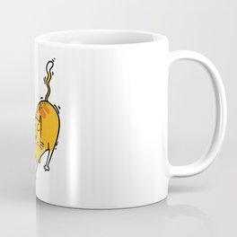 Funny Yoga Cat Illustration Yoga Asana Fun Coffee Mug