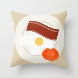 El desayuno Throw Pillow