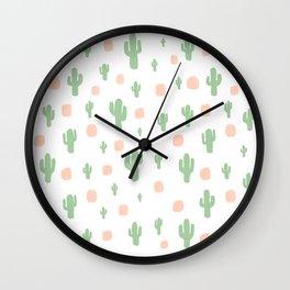 Cactus Pattern - tight Wall Clock