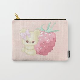 Raspberry Cutie Bear Carry-All Pouch
