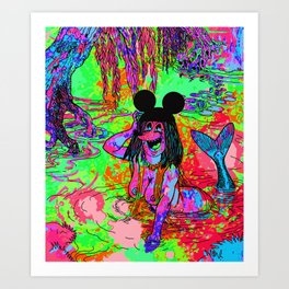 WASHED UP. Art Print