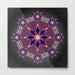 Morning Star Circle (Purple) Metal Print