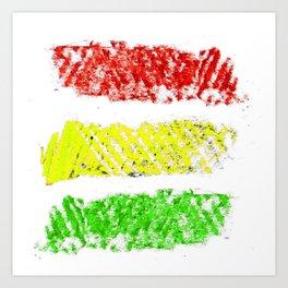 flag of bolivia 5 – Chalk version bolivian,boliviano,bolivian,Sucre, La Paz. Art Print