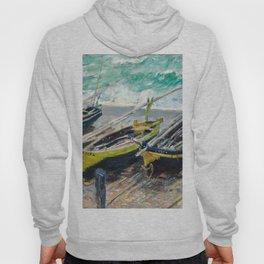 1886-Claude Monet-Three Fishing Boats-73 x 92 Hoody