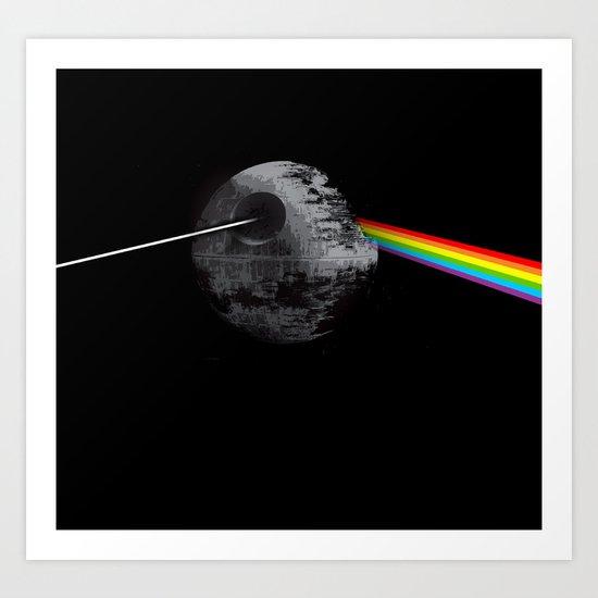 Dark side of Deathstar Art Print