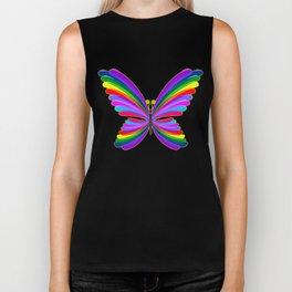 Butterfly Psychedelic Rainbow Biker Tank