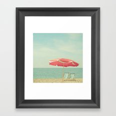 Deserted Beach Framed Art Print