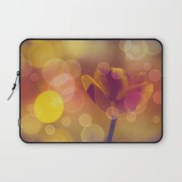 Golden Bubbles N Tulip Laptop Sleeve