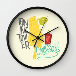 Leaning Tower of Cheesah! Wall Clock