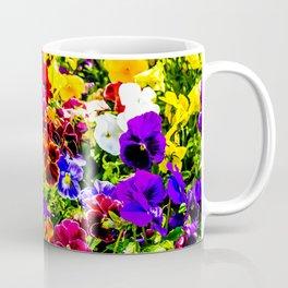 Viola Tricolor Pansy Flowers Coffee Mug