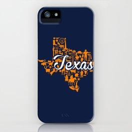 UTEP Texas Landmark State - Blue and Orange UTEP Theme iPhone Case