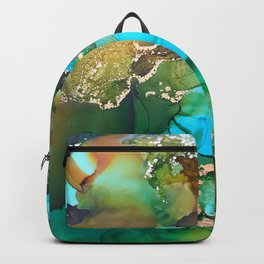 """Abstract Art """"Still Waters"""" Backpack"""