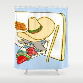 Siesta Jalapeno wit a stick Shower Curtain
