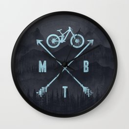 Downhill MTB Wall Clock