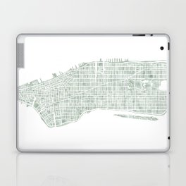 Map Manhattan NYC watercolor map Laptop & iPad Skin