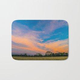 Blurred sky Bath Mat