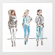 JCrew Trio Art Print