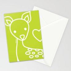Green Deer Stationery Cards