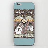 cannabis iPhone & iPod Skins featuring Cannabis, Art Deco by Susan Szecsi