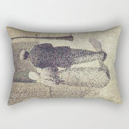 Charles Angrand - Man and Woman in the Street Rectangular Pillow