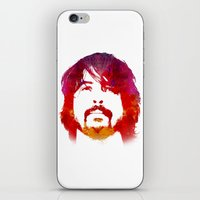 dave grohl iPhone & iPod Skins featuring D. Grohl by Fimbis