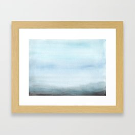 Watercolor Abstract Landscape Framed Art Print