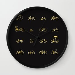 Bike Icons Wall Clock