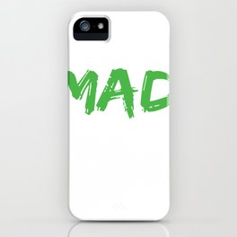 Lazy Mad Scientist Funny Halloween design iPhone Case