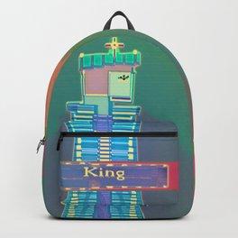 KING / White / Chess Backpack
