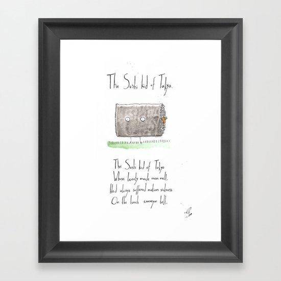The Sushi Kid of Tokyo Framed Art Print