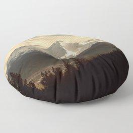 Mount Shasta Waking Up Floor Pillow