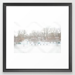 winterpool Framed Art Print