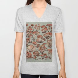 A Series of Mushrooms Unisex V-Neck