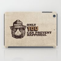 yetiland iPad Cases featuring Grumpy PSA by Eric Fan