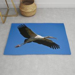 Wood Stork in Flight Rug