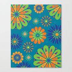 Psycho Flower Blue Canvas Print